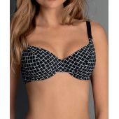 Haut de bikini grande taille RUBINA TOP 8758-1 NOIR