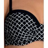 Haut de bikini grande taille CASSIE TOP 8838-1 NOIR