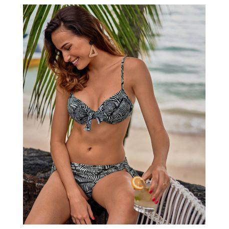 Haut de bikini ELEONORE TOP 8841-1 NOIR/BLANC
