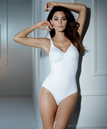 Body lingerie sans armatures TWIN 3489 BLANC